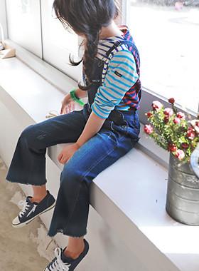 """<font color=#4bb999>* 2017年JKIDS S / S *</font> <br>英格丽裤子吊带<br> <font color=""""#9f9f9f"""">♡♡靴型裤搭配背带<br>南,女孩kkultem!</font>"""