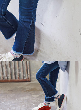 "<font color=#edb200>* 2017年JKIDS F / W *</font> <br>滴水靴型牛仔裤<br> <font color=""#9f9f9f"">♡♡超薄喇叭裤sweip <br>自然低胸短裙!</font>"