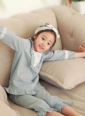 "SET SET UP Bijoy睡衣<br> <font color=""#9f9f9f"">♡温柔的薄色♡ <br>浪漫蕾丝装饰!</font>"