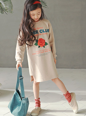 "玫瑰俱乐部连衣裙<br> <font color=""#9f9f9f"">♡♡浪漫的玫瑰印花<br>容易每日连衣裙!</font>"