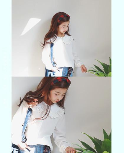 """双领衬衫<br> <font color=""""#9f9f9f"""">*更漂亮的女孩穿越♥* <br> *公主必备! *</font>"""