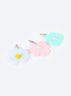 粉彩花发夹