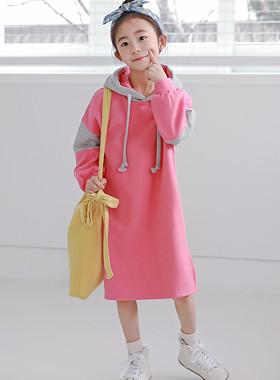 """脱毛连衣裙<br> <font color=""""#9f9f9f"""">♡流行的粉红色粉红色♡ <br>感觉颜色罩!</font>"""
