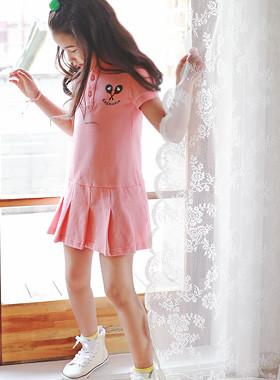 """爱邦PK连衣裙<br> <font color=""""#9f9f9f"""">*今年夏天, <br> *美人本能粉色连衣裙* <br>请订购大一码</font>"""