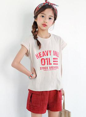 "HABY Vintage设置<br> <font color=""#9f9f9f"">♡酷短袖+短裤♡ <br>炎热的夏季协调完成!</font>"