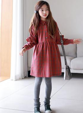 法国格纹连衣裙