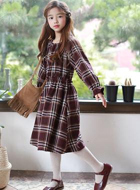 Maison格纹连衣裙