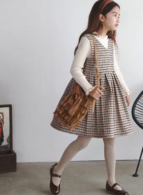 "Ino Lattice衣衣裙<br> <font color=""#9f9f9f"">*可爱的复古心情* <br>羊毛格衣衣裙</font>"