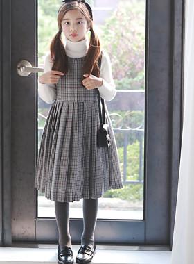 """U&mi格衣衣裙<br> <font color=""""#9f9f9f"""">*可爱的复古心情* <br>格子衣衣裙</font>"""