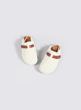 棕榈羊皮拖鞋