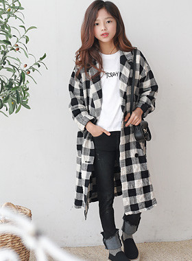 Joa Check Long Jacket