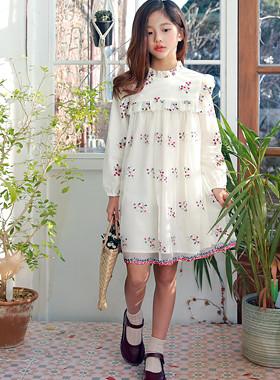 朱莉刺绣雪纺连衣裙
