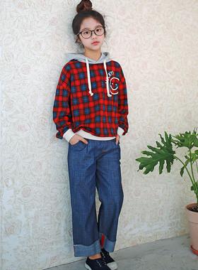 半宽牛仔裤
