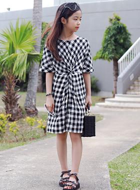 Twiz格纹连衣裙