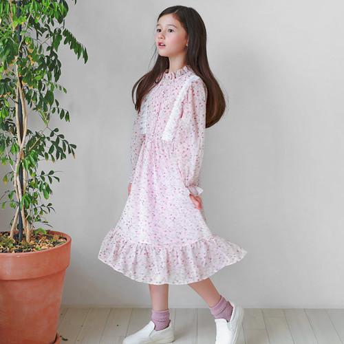 花蕾丝花连衣裙
