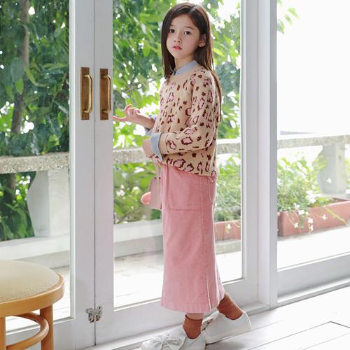 Minyu灯芯绒裙